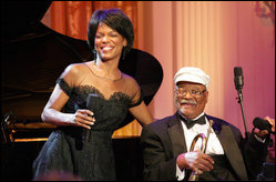 Nnenna Freelon - © Freelon performed at the White House with flugelhorn player Clark Terry in 2006.